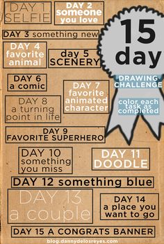 15 day Drawing Challenge