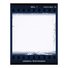 Film Flat Note Card (blue)