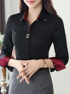 Simple Blouse Ideas For Work Work Blouse, Blouse Dress, Cute Blouses, Shirt Blouses, Hijab Fashion, Fashion Outfits, Dress Fashion, Womens Fashion, Classy Outfits