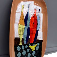 NICE & HUGE WALL TILE MID CENTURY MODERN CARREAU POST > ART DECO & BAUHAUS ÈRE