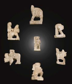 Scandinavian, century SEVEN GAMES PIECES marine ivory, with a burgundy velvet covered stand pieces: 35 to 1 to stand: 21 by by 9 in. Medieval Games, How To Play Chess, Modern Art, Contemporary, Game Pieces, Impressionist, Stand 21, Scandinavian, Lion Sculpture