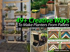 49  Creative Ways To Make Planters From Pallets