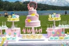 Sweet and Clever's Baby Shower / Boho Chic - Boho Chic Baby Shower at Catch My Party Bridal Shower Cakes, Baby Shower Favors, Shower Party, Baby Shower Cakes, Baby Shower Parties, Baby Shower Themes, Baby Shower Decorations, Shower Ideas, Baby Party
