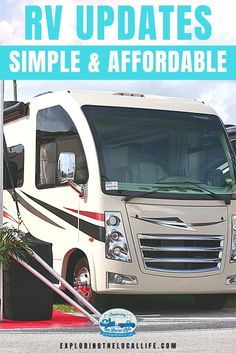 Are you tired of crappy RV mattresses and cheap RV faucets? Find out how to make your RV more comfortable with these simple and budget-friendly RV upgrades. Rv Mattress, Cheap Rv, Rv Upgrades, Small Rv, Rv Organization, Rv Parks, Rv Travel, Rv Life, Rv Camping