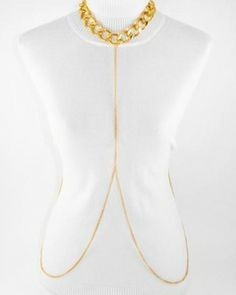 Gold Neck Chain Body Chain
