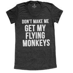 Flying Monkeys Tee Womens Black