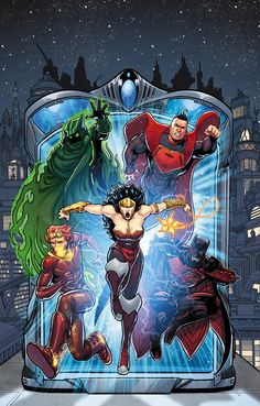 JUSTICE LEAGUE 3000 #1 Written by KEITH GIFFEN and J.M. DeMATTEIS Art and cover by KEVIN MAGUIRE 1:50 BW Variant cover by KEVIN MAGUIRE On ...
