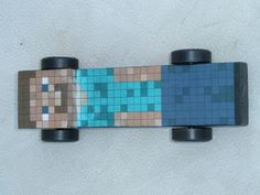 Minecraft Steve Pinewood Derby Car