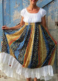 Haute Hippie Maxi Dress/ upcycled gypsy dress/ eco by wearlovenow, $52.99