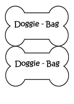 Dog (Puppy) Themed Birthday Party.  Doggie Bag labels