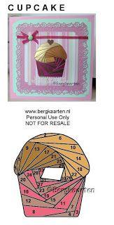Irisvouwen: Cupcake