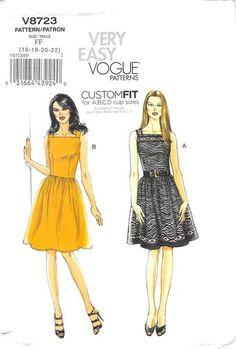 VOGUE 8723 - FROM 2011 - UNCUT - MISSES DRESS