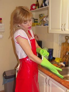 Pvc Apron, Cleaning Gloves, Rubber Gloves, Maid, Latex, Heaven, Girls, Kitchen, Gloves