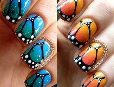 La Manucurieuse: Nail Art - Butterfly Nails