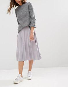 Boohoo | Boohoo Pleated Slinky Midi Skirt at ASOS