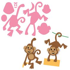 Marianne Design Collectable Elines Monkey Dies - COL1399 FREE SHIPPING