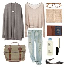 """Untitled #251"" by the59thstreetbridge ❤ liked on Polyvore featuring Brandy Melville, TOMS, Obeline, Clarins, Giada Forte, Garrett Leight and Pieces"