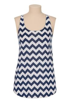 blue chevron stripe tank...