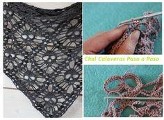 Patrones Crochet: Chal de Calaveras de Crochet Tutorial
