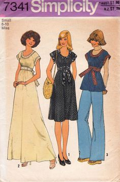 Simplicity 734170s Raglan Sleeve Dress Top Pattern Size Small 8 - 10 UNCUT FF