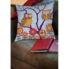 Thumbprintz Hootie Hoo Indoor Pillow, Multicolor