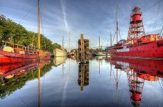 Den Helder; Harbour in early morning