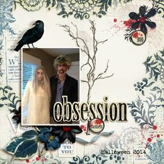 Obsession - A digital scrapbook page by Diane.  The digital scrapbooking layout is made using digital scrapbooking kit(s) designed by Lynn Grieveson Designs, sold at The Lilypad: Midnight Brooms.