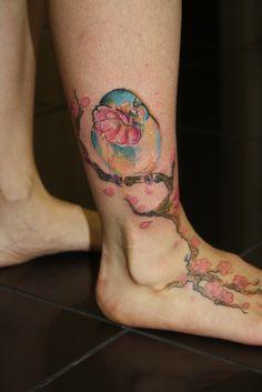 today's bird tattoo. CHARLOTTE ROSS- EMPRESS TATTOO.