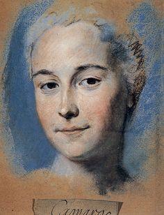 Maurice Quentin de la Tour, Mademoiselle Camargo, France, Saint-Quentin, musée Antoine Lecuyer.Pastello, senza data.
