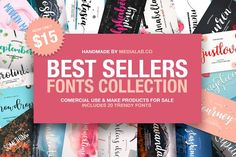 Best Sellers Fonts Collection by MediaLab.Co on @creativemarket