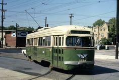 SEPTA  Rt.47  trolley  at 5 and Godfrey Phila  1968