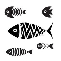 Pottery Painting Designs, Paint Designs, Fish Drawings, Art Drawings, Drawing Sketches, Icon Set, Vogel Silhouette, Fish Icon, Fish Graphic
