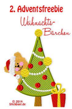 Stickbär-2.Advents Freebie Christmas Bear