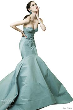 Zac Posen Resort 2012 Fashion Show - Coco Rocha Couture Mode, Style Couture, Couture Fashion, Fashion Show, Net Fashion, High Fashion, Fashion Glamour, Blue Fashion, Fashion Women