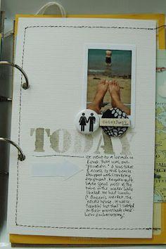 travel art journal. evalicious.