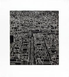 Art / Kunst, Print, Printmaking Grafik, Druckgrafik, Artist/Künstler: Bogdan Hoffmann, Title/Titel: Berlin II, Technique/Technik: Aquatint and mezzotint engraving / Aquatinta- und Mezzotintoradierung, Price/Preis: 360,- €