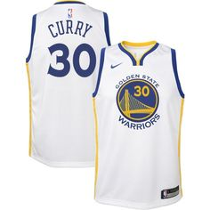 Nike Youth Golden State Warriors Stephen Curry #30 White Dri-FIT Swingman Jersey, Boy's, Size: Large, Team