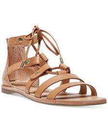 17727fec6f49 Franco Sarto Baxter Lace-Up Flat Sandals Strappy Flats