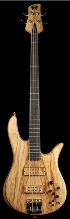 FODERA Monarch Deluxe 4-String Electric Bass Olive   The Music Zoo