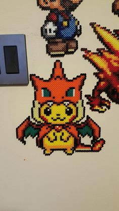 Post with 60 votes and 964 views. Pikachu wearing a Charizard Y hoodie Hama Beads Pokemon, 3d Pokemon, Pokemon Craft, Diy Perler Beads, Perler Bead Art, Pearler Beads, Pikachu, Pixel Art, Perler Patterns