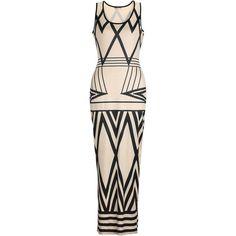 Glamorous Scoop Neck Geometric Sleeveless Maxi Dress (1.735 RUB) ❤ liked on Polyvore featuring dresses, summer dresses, glamorous dresses, scoop-neck dresses, pink sleeveless dress and pink maxi dress