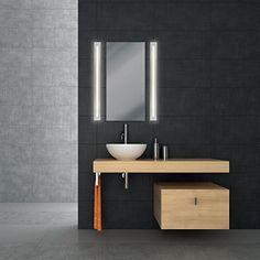Applique/Plafonnier Fis LED Bathroom Wall Lights, Bathroom Lighting, Bathroom Towel Radiators, Doka, Luminaire Led, Toilet Accessories, Concrete Wall, Heated Towel Rail, Bari