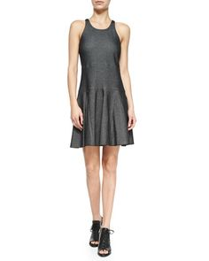 Enigma Cotton-Blend Fit-and-Flare Dress, Black by Rag & Bone at Bergdorf Goodman.