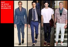 "The reason these rigs looked right sans socks? Good tailoring. As Thom Browne once pointed out, ""when going sockless, you want your pants to be a little shorter."" Asking your tailor for no break on a pair pants will make sure you flash the right amount of skin. On more casual trousers, like our man Michael Bastian's on the right, a solid roll will save you the extra wait time and money."