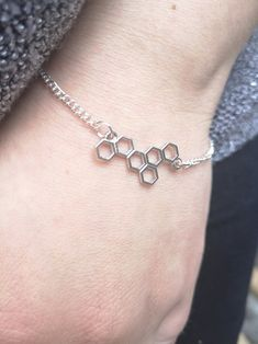 Items similar to Dainty Honeycombs Silver Bracelet, Honeycombs Jewellery, Honey Bracelet, Silver Chain Bracelet, Honeycombs Charm Bracelet on Etsy Bracelet Making, Jewelry Making, Dainty Jewelry, Unique Jewelry, Honeycombs, Minimalist Design, Jewellery, Gemstones, Chain