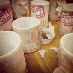 'cardboard' ceramic cups @timsceramics