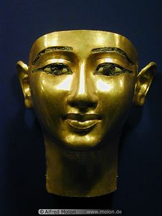 Golden mask,Ancient Egyptian.