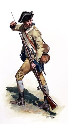 American; 3rd New Jersey Regiment, Private, 1776 by Don Troiani