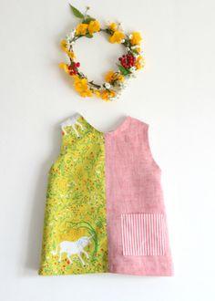 Unicorn girls' toddler dress sundress summer dress. by bymamma190