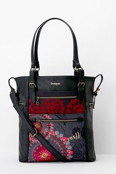 Bags Desigual Shopper Argentina New Red Tote Backpack 0726d6cf6c